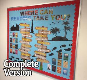 WHERE CAN READING TAKE YOU? - ENGLISH LITERACY CLASSROOM/CORRIDOR DISPLAY