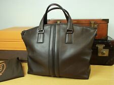 TOD'S Italy Brown Leather Tote Travel Duffle Carry On Bag Mens Unisex