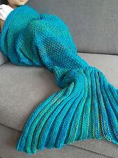 Kids Super Soft Handmade Crocheted Mermaid Tail Blanket Snuggle-in Sleeping Bag