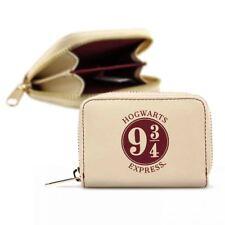 New Harry Potter Platform 9 3/4 Purse Hogwarts Express Coin Zip Wallet Official