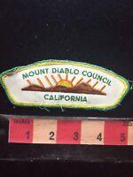 Vtg (circa 1980s) MOUNT DIABLO COUNCIL BSA Boy Scout Flap Patch CALIFORNIA C77S
