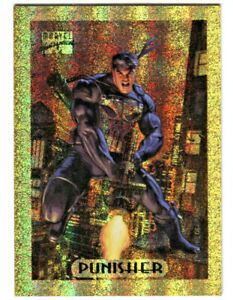 MARVEL MASTERPIECE 1994 * LIMITED EDITION GOLD HOLOFOIL #6 * THE PUNISHER * RARE