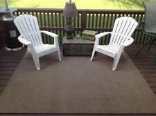 6 ft x 8 ft Water Resistant Area Rug Indoor Outdoor Carpet Earth Tones FREE SHiP