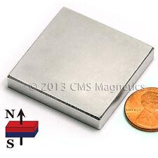 "N45 Neodymium Magnets 1 1/2X1 1/2 X 1/4"" Rare Earth Magnets 4 PC"