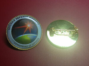 UNITED STATES MISSILE DEFENSE AGENCY `  Gold Plated PIN Badge  D.O.D.
