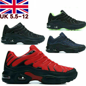 Mens Air Shock Absorbing Running Trainers Casual Lace Gym Walking Sports Shoes