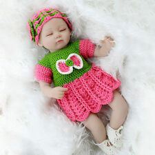 Lovely 22'' Rebornpuppen Baby Doll Soft Silicone Accompany Simulation Newborn