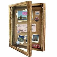 Shadow Box Display Case Large 11x14 Shadow Box Picture Frame With Linen Pin New
