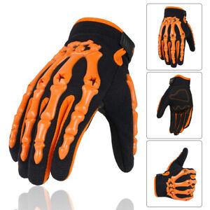 Men Full Finger Skeleton Motocross Riding Gloves for Motorcycle Cycling Bike US