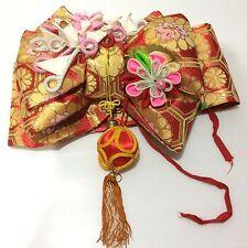 Japan Import - Vintage Japanese Dress KIMONO Accessories - Bow Belt OBI w:100cm