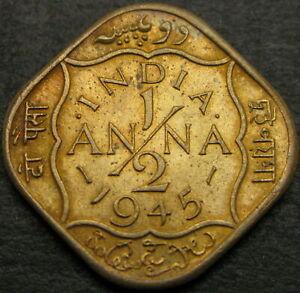 INDIA (British) 1/2 Anna 1945 - VF+ - 1808 ¤