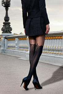 Gerbe 40% On Tights Sexy Fancy A Pattern Shoelace Reference cuissardes
