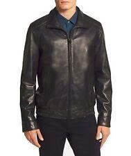 VINCE CAMUTO Men's Bomber Leather Jacket