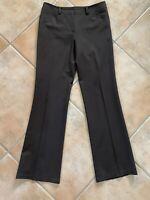 Lafayette 148 New York Womens Sz 4 Brown Wool Blend Straight Leg Dress Pants