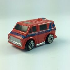 Micro Machines Vehicle 1970 AMBULANCE VAN CHEVY CHEVROLET Red Blue Emergency Car