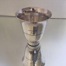 Coupe Trophée Polo Club Biarritz Parfums Carven Métal Argenté Rare Trophy 1953