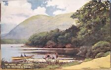 Irish Postcard MIDDLE LAKE KILLARNEY Illus L&NW via Holyhead RR Ireland Boats