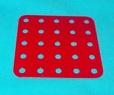 Meccano plaque rectangulaire No72, rouge