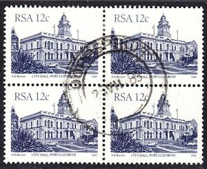 South Africa Scott 579  F to VF used block of 4 with a splendid SOTN cds.