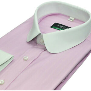 Round Club collar Penny collar Bankers Pink Oxford shirt Gents Peaky Blinders