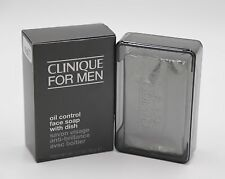 Clinique For Men Oil Control Face Soap With Dish 5.2oz New Boxed