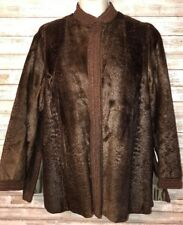 VINTAGE Eilers Master Furriers Of South Dakota Emboidered Knit Trim Womens L