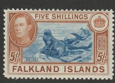 FALKLAND ISLANDS 1938 SG161 5/-  FINE MTD MINT CV£150