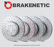 [FRONT + REAR] BRAKENETIC PREMIUM Cadmium Drilled Slotted Brake Rotors BPRS46818