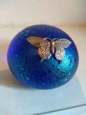 Vintage Iridescent Heron Glass Paperweight