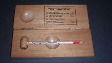 L'esprit & Le Vin Vino al servizio Termometro in custodia di legno + grafico della temperatura