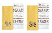 Celebrate Spring Together Kitchen Dish Towels YELLOW BIKE 4-Piece Set NEW