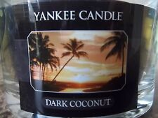 Yankee Candle     Dark Coconut   3 Wick 17 oz  Free Priority Shipping SALE