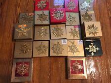 Vintage  1991-2018 Gold MMA Museum Art Snowflake Star Christmas Ornament w/ Box
