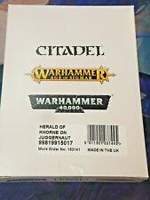Herald of Khorne on Juggernaut Daemons of Tzeentch Warhammer 40k 40,000 Games Ne