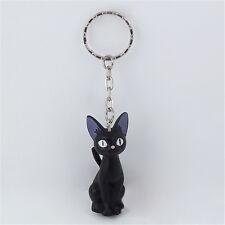 Anime Kiki's Delivery Service JIJI Cat Black PVC Pendant Keychain Keyrings
