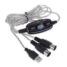 USB IN-OUT MIDI-Kabel-Konverter PC zum Musik-Tastatur-Adapter-Schnur X0Q5