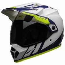 Bell MX-9 Adventure Mips Dash White / Blue / Hi Viz Motorbike Motorcycle Helmet