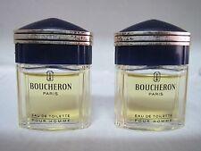 Boucheron Pour Homme By Boucheron **LOT OF 2** MINI EDT SPLASH 5 ml (2x5=10 ml)