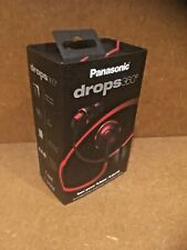 Panasonic Drops 360 In-Ear Earbud Headphone with Mic RPHJX6M Red New Open Box