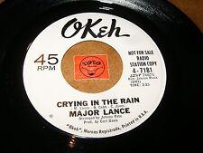 MAJOR LANCE - CRYING IN THE RAIN - HEY LITTLE GIRL  / LISTEN - SOUL POPCORN