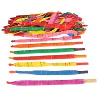 100 x Assorted Colors Long Rocket Balloons with Tube Party Fillers Fun Toys S7M3