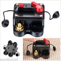 Metal&Plastic Mini 100 Amp Manual Reset Circuit Breaker Autos Audio Fuse Holder