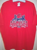 FOR ATLANTA FANS, 50 YEARS IN ATLANTA PLAYERS/PEOPLE RED T-SHIRT ADULT SMALL (S)
