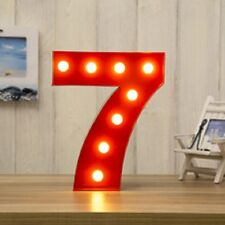 LED CARNIVAL BIRTHDAY CELEBRATION ANNIVERSARY LARGE 33CM RED METAL NUMBER 7