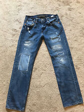 EUC Men's Destroyed AMERICAN EAGLE Jeans Size 30 X 30 SLIM STRAIGHT
