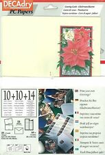 Decadry SPZ-2073 Christmas Poinsettia Greeting Card Make Your Own Cards