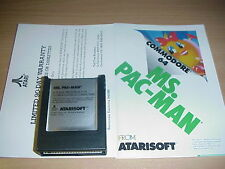 COMMODORE 64/ C64 - MS PAC-MAN Cartridge Game - New/Complete  Atarisoft