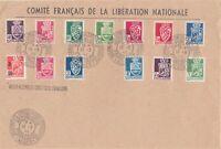 ALGERIE YV 157/183 197 COMITE FRANCAIS LIBERATION NATIONALE GRIFFE ASSEMBLEE CP