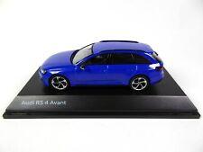 Audi RS4 Avant Nogaro Blue 1/43 Spark Dealer Pack Voiture Model Car 14231
