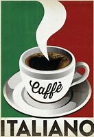 Caffe Italiano Blechschild Schild gewölbt Metal Tin Sign 20 x 30 cm FA0344